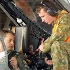 FA-18 pilot straps in at ECADEX