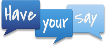 Have Your Say logo