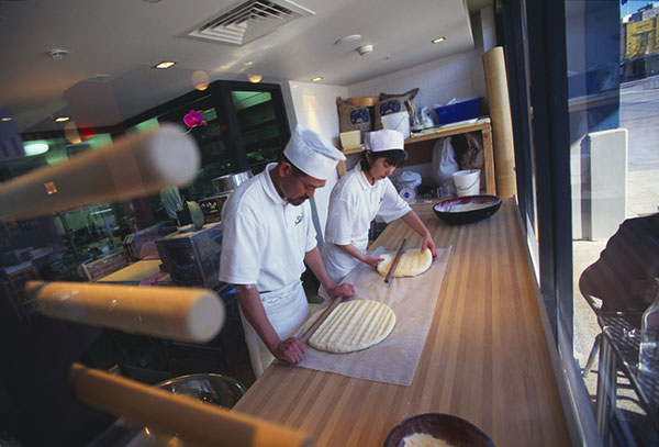 Chefs in kitchen