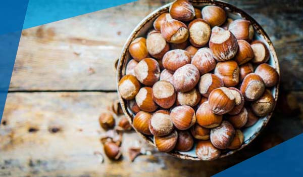 Image of hazelnuts in a bowl