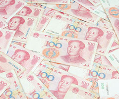An image of Chinese bank notes