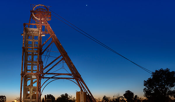 Mining equipment, Cobar in the evening light - outback Australia