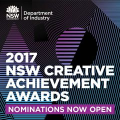 2017 NSW Creative Achievement Awards open