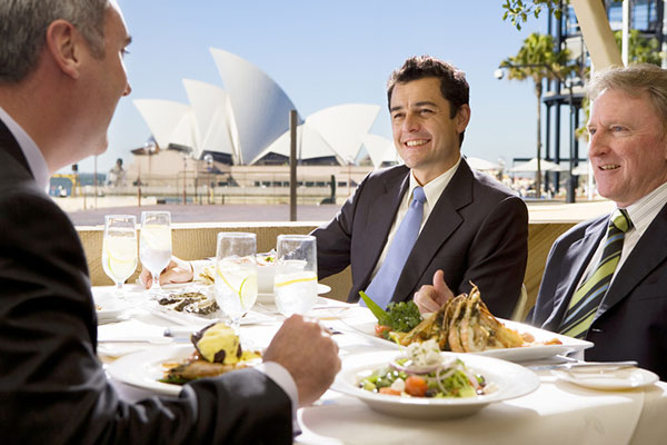 Business lunch on Sydney Harbour