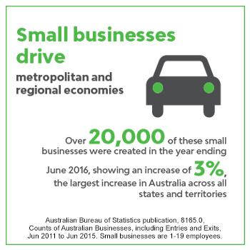 Small businesses drive metropolitan and  regional economies