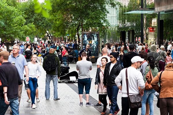 A street scene in Sydney