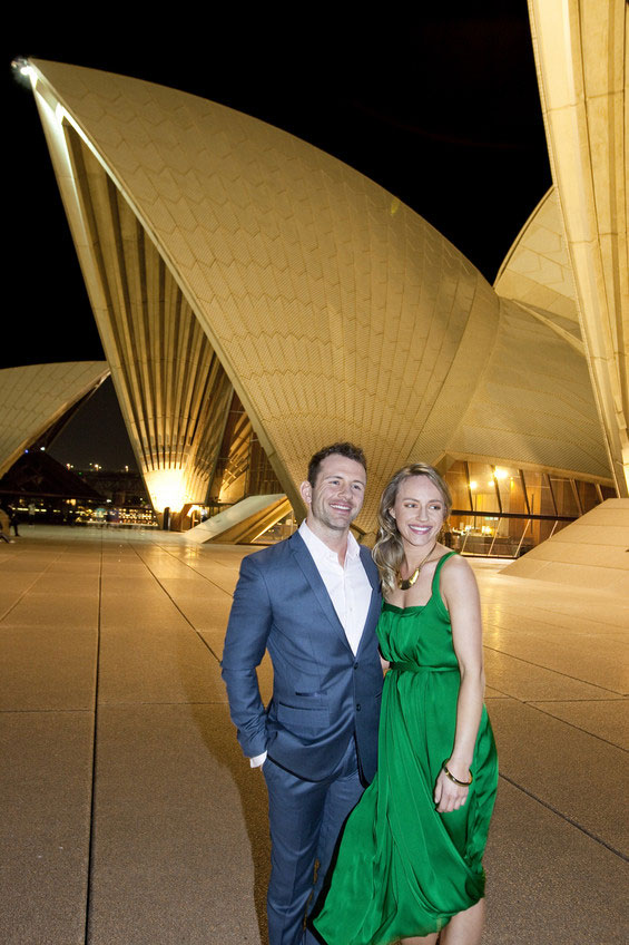 Couple outside Sydney Opera House