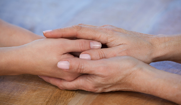 Two female hands