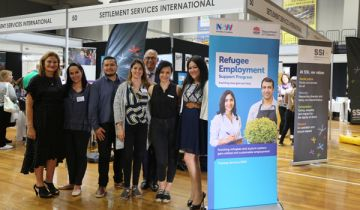 Training NSW staff at Refugee Employment Expo