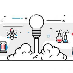 Graphic light bulb launching