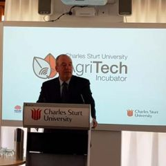 Daryl Maguire speaking at the AgriTech Incubator Hub launch