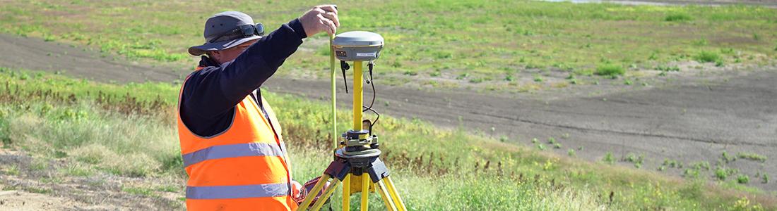 Surveying at Mollee in Narrabri, New South Wales.