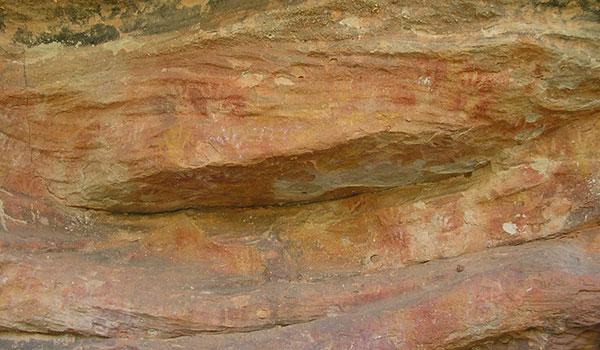 Aboriginal rock art at Mutawintji Historic Site in Mutawintji National Park