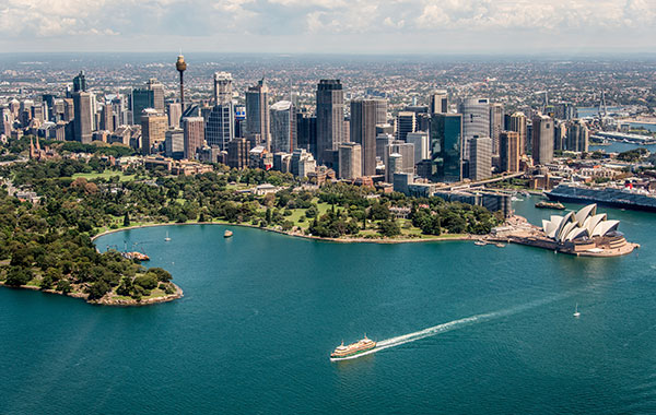Sydney Harbour and Sydney Opera House