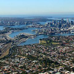 The Bays Precinct Urban Renewal Program aerial photo
