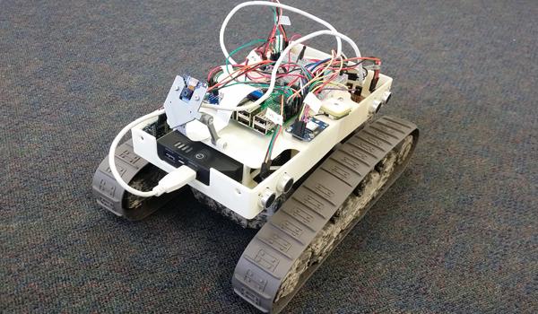 Early prototype of LUCi robotic lawnmower