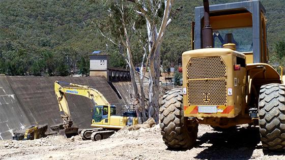Construction of Winburndale Dam