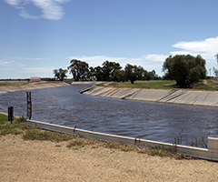 Improving water efficiency through off-farm infrastructure