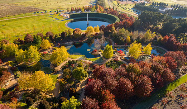 Picturesque view of Mayfield Gardens on an autumn day in Oberon, New South Wales.