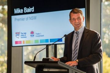 NSW Premier Mike Baird at the Business Leadership Forum 2014