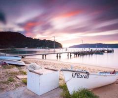 Patonga wharf at sunset