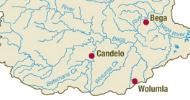 Bega river map