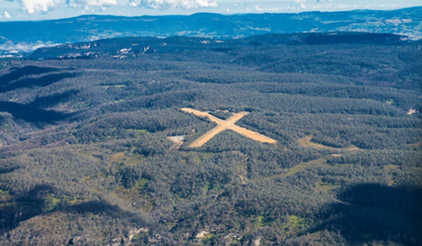 Aerial view of Katoomba Airport