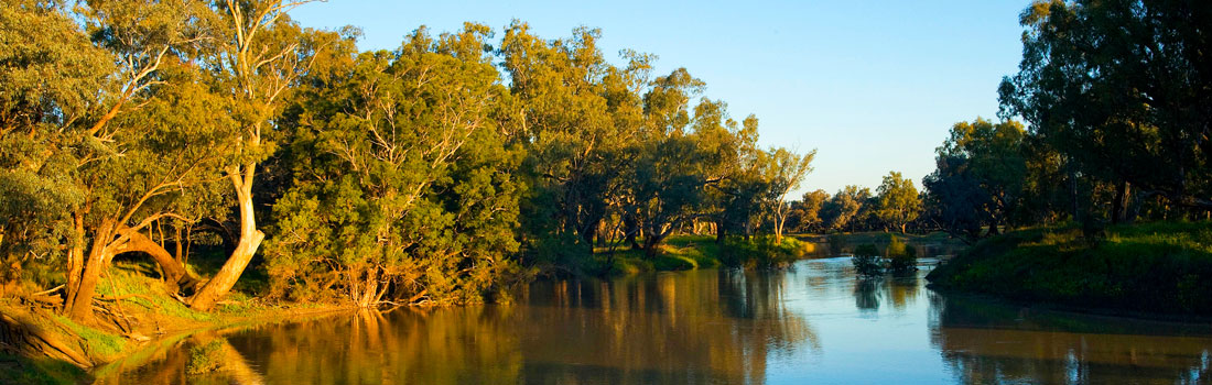 Darling River at sunset, New South Wales.