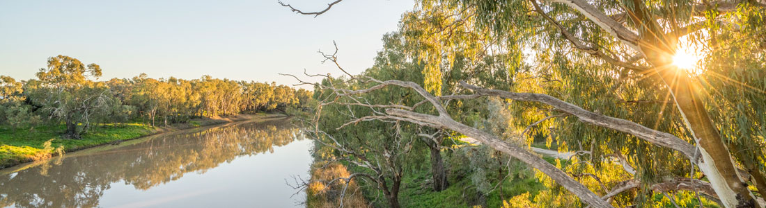 Darling River in Bourke, New South Wales. Image courtesy of Destination NSW.