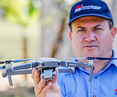 NRAR Officer with drone