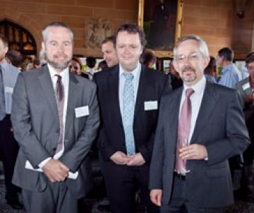 Profs Ben Eggleton & Trevor Hambely, Dean of Sciences at University of Sydney with Christopher Armstrong