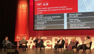 Startups and role of government panel at CeBIT 2017