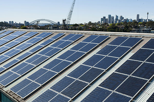 SMA inverters installed in the solar power system on Cockatoo Island, Sydney