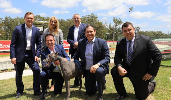 Taylor Martin MLC, Sue Dengate, Brenton Scott, Minister for Racing Paul Toole, Tony Mestrov and Ryan Freedman.