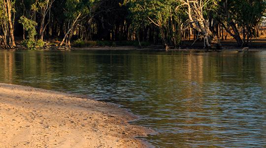 Murrumbidgee River in Hay, NSW.