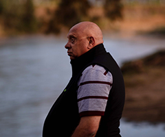 Phil Duncan looks out over Gwydir River in Moree