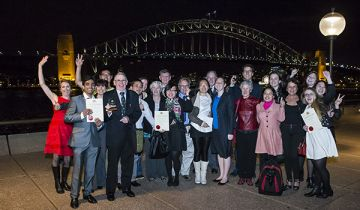 Winners and supporters from the 2014 International Student Awards