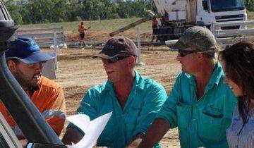 Aboriginal business people collaborating