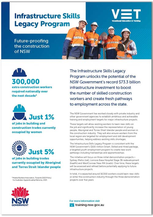 About the Infrastructure Skills Legacy Program brochure cover