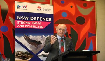 Industry Minister Niall Blair launching Defence NSW.