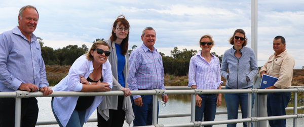 Department staff visiting the Southern Basin