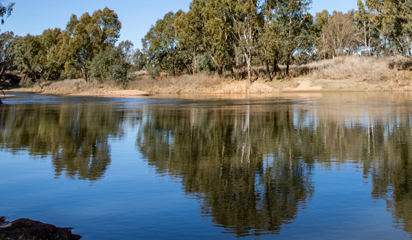 Macquarie River at Dubbo, New South Wales.