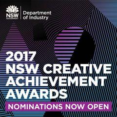 2017 NSW Creative Achievement Awards open