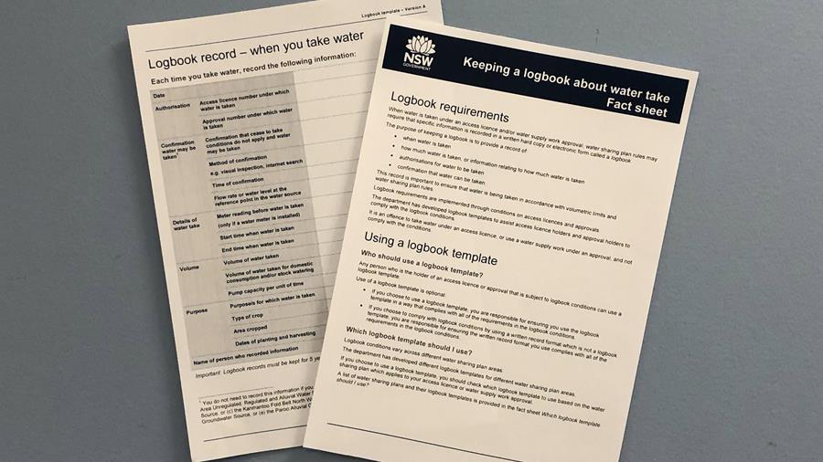 Copy of logbook for broken meter reporting