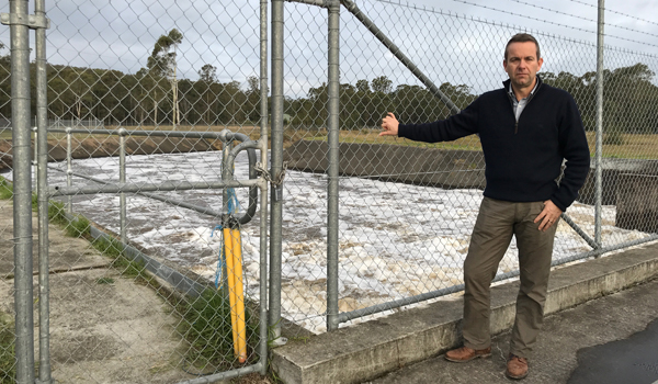 Grant Barnes, Chief Regulatory Officer NRAR at Hunter water facility
