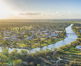 Scenic view of the Murray-Darling Basin junction, NSW.