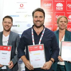 The winner and runners up of the PitchFest at CeBIT 2018