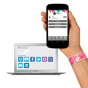 An image showing a hand holding a smartphone with the CentryC portal on its screen.