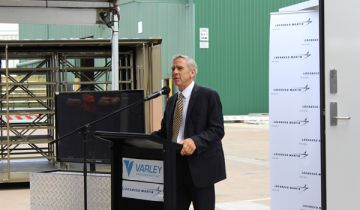 NSW Defence Advocate Air Marshal (Ret) John Harvey AM speaking at Varley Group