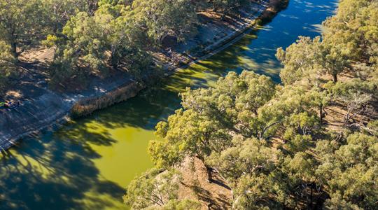 Darling River at Kinchenga National Park. Image courtesy of John Spencer, DPIE.